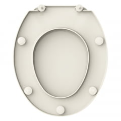 Assento sanitário Universal Oval Prime convencional polipropileno