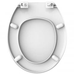 Assento sanitário Universal Oval Prime convencional resina termofixo