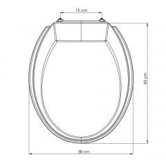 Assento sanitário Universal Oval Prime ocre convencional polipropileno
