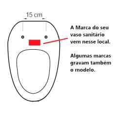 Assento sanitário Universal Oval Solution branco soft close polipropileno