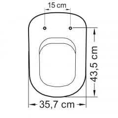 Assento sanitário VoguePlus Life Flox Square LorenLuna LorenClass cinza soft close resina termofixo