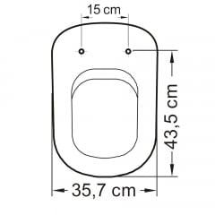 Assento sanitário Vogue Plus Life Flox Square LorenLuna LorenClass convencional resina termofixo