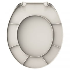 Assento sanitário Universal Oval Diamantina Sabara areia convencional polipropileno