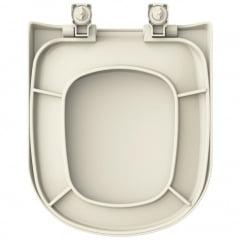 Assento sanitário VoguePlus Life Flox Square LorenLuna LorenClass creme convencional polipropileno