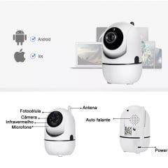 Camera wifi 720p ip varredura automática ptz noturna.