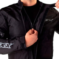 Jaqueta masculina preta motociclista g Texx Ronin